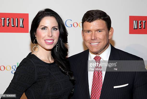 Amy Baier and Journalist Bret Baier walk the red carpet at Google/Netflix White House Correspondent's Weekend Party at United States Institute of...