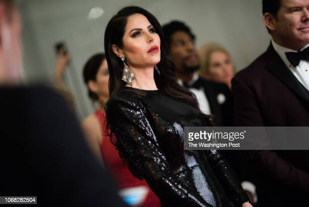 Amy Baier the wife of Bret Baier is pictured Celebrities are pictured on the red carpet before the event The 41st Annual Kennedy Center Honors was...