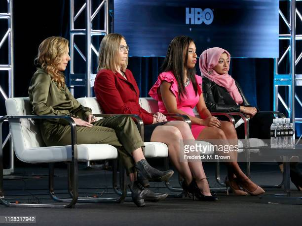 Amy Berg Susan Simpson Asia McClain and Rabia Chaudry of the television show The Case Against Adnan Syed speak during the HBO segment of the 2019...