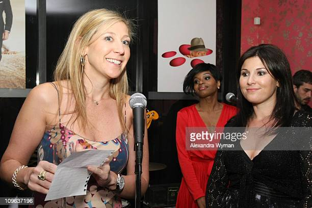 Amy Berman and Felicia Alexander of Sony speak during the Sony Cierge Holiday Preview Event to preview the new Sony Products held at Coco De Ville on...