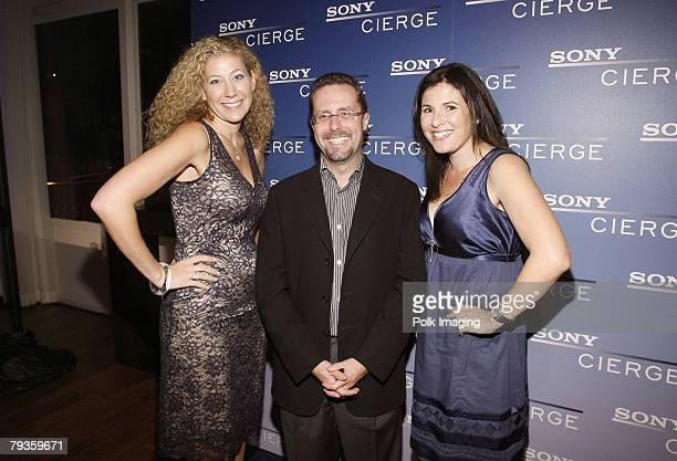 Amy Berman Andrew House and Felicia Alexander pose at the Sony Cierge Holiday Preview Event held on November 62007 at the Sunset One bar in Los...