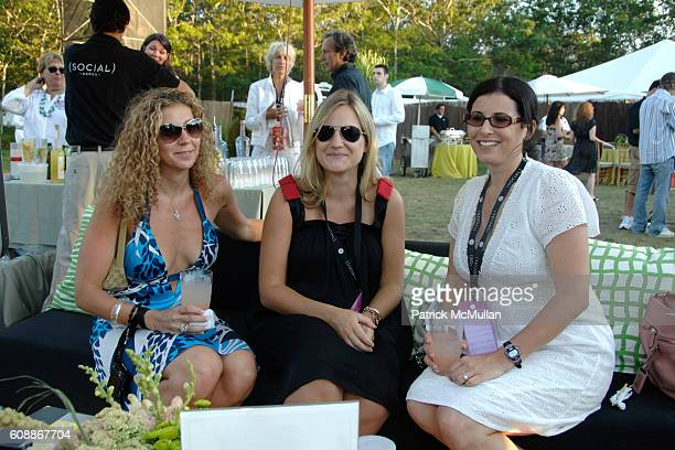 Amy Berman Kimberly Bernhardt and Felicia Alexander attend SONY CIERGE Lounge at the Social's James Taylor Concert at The Ross School on August 11...