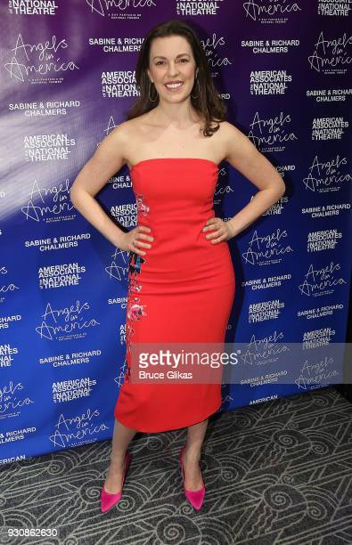 Amy Blackman poses at the Angels In America on Broadway's National Theatre American Associates Celebratory Gala at The Ziegfeld Ballroom on March 11...