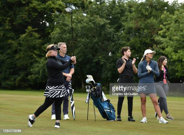 Amy Bockerstette during the Pro Am event at The ISPS HANDA World Invitational at on July 28, 2021 in Ballymena, United Kingdom.