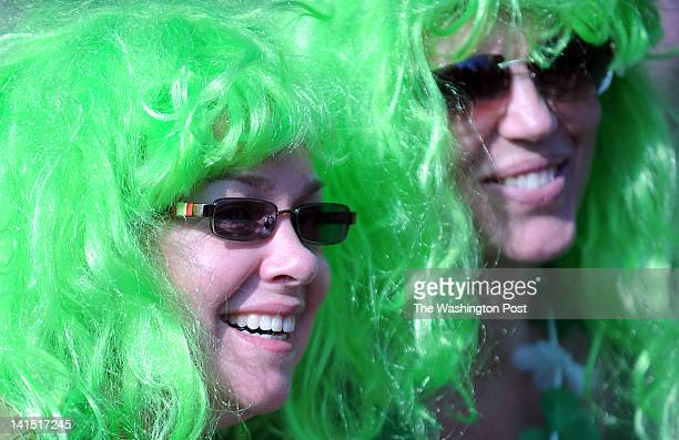 Amy Bogan, from Bowie, MD, left, and Michele Herring, also from Bowie, MD, wear the proper hair style while attending the 12th Annual St. Patrick's...