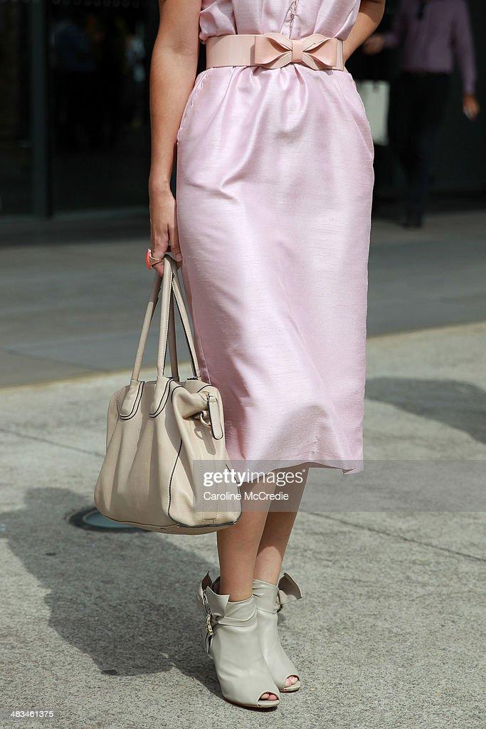 Street Style At Mercedes-Benz Fashion Week Australia 2014 : News Photo
