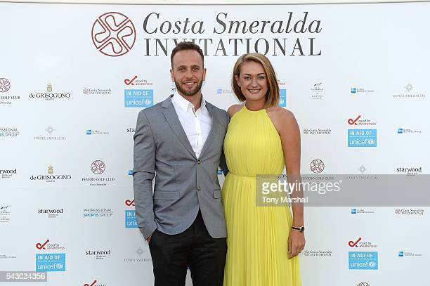 Amy Boulden and Wesley Jones attend the Gala Dinner during The Costa Smeralda Invitational golf tournament at Pevero Golf Club Costa Smeralda on June...