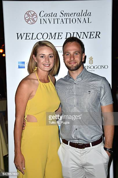 Amy Boulden and Wesley Jones attend the Welcome Dinner prior to The Costa Smeralda Invitational golf tournament at Pevero Golf Club Costa Smeralda on...