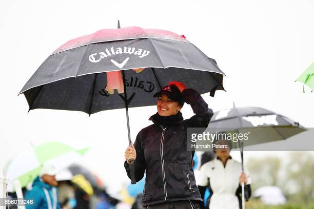 Amy Boulden of Wales looks on during day four of the New Zealand Women's Open at Windross Farm on October 1 2017 in Auckland New Zealand