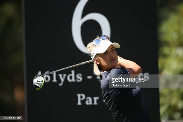 Amy Boulden plays a shot during The Berenberg Gary Player Invitational 2018 at Wentworth Club on July 23 2018 London England