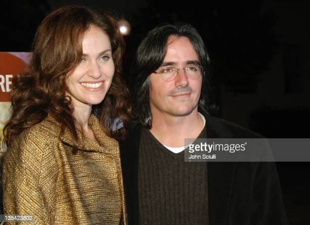 Amy Brenneman and Brad Silberling director during '10 Items or Less' Los Angeles Premiere Arrivals at Paramount Theater in Los Angeles California...