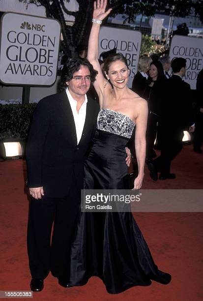 Amy Brenneman and Brad Silberling during The 59th Annual Golden Globe Awards Arrivals at The Beverly Hilton in Beverly Hills California United States