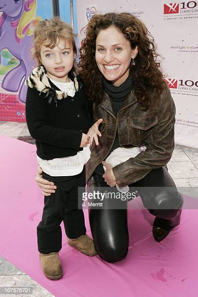 Amy Brenneman and daughter Charlotte during Starlight Starbright Children's Foundation and Hasbro's My Little Pony Screening and Party at Universal...