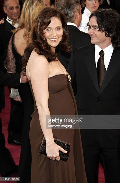 Amy Brenneman and director Brad Silberling during The 77th Annual Academy Awards ET Platform at Kodak Theatre in Los Angeles California United States