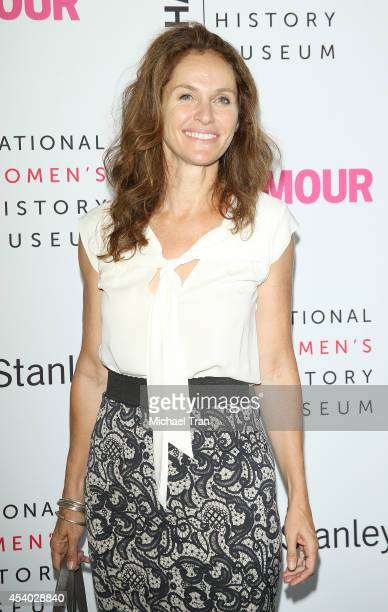 Amy Brenneman arrives at the National Women's History Museum's 3rd Annual Women Making History event held at Skirball Cultural Center on August 23...