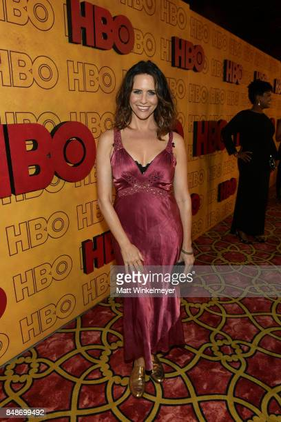 Amy Brenneman attends HBO's Post Emmy Awards Reception at The Plaza at the Pacific Design Center on September 17 2017 in Los Angeles California