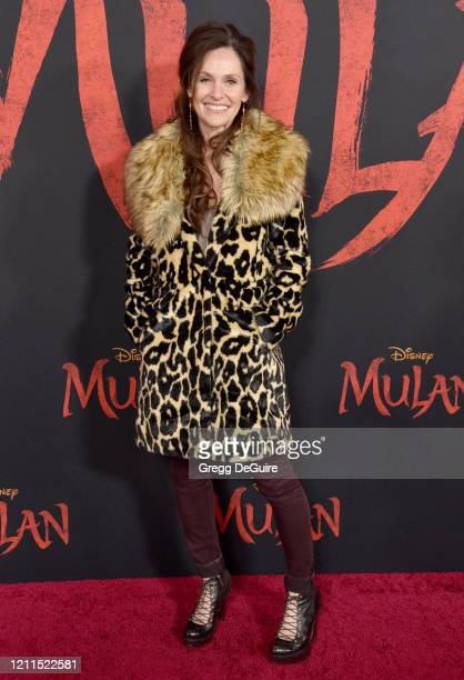 Amy Brenneman attends the Premiere Of Disney's Mulan on March 09 2020 in Hollywood California