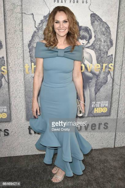 Amy Brenneman attends the Premiere of HBO's 'The Leftovers' Season 3 Arrivals at Avalon Hollywood on April 4 2017 in Los Angeles California