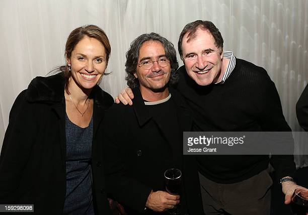 Amy Brenneman Brad Silberling and Richard Kind attend The 4th Annual Unbridled Eve Derby Prelude Party at The London West Hollywood on January 10...