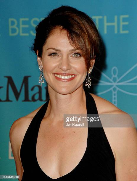 Amy Brenneman during 2007 Women in Film Crystal Lucy Awards Arrivals at The Beverly Hilton Hotel in Beverly Hills California United States