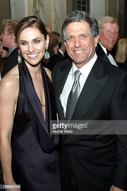 Amy Brenneman Of The CBS Show Judging Amy and CBS Pres and CEO Leslie Moonves