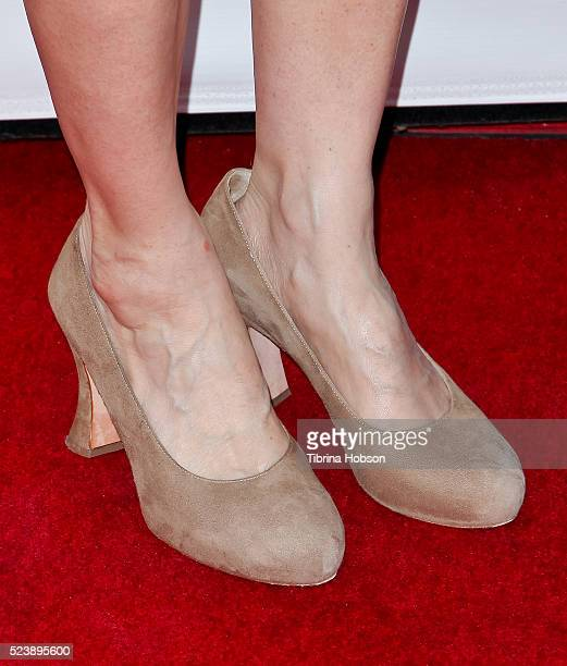 Amy Brenneman shoe detail attends the 3rd annual Location Managers Guild International Awards at The Alex Theatre on April 23 2016 in Glendale...