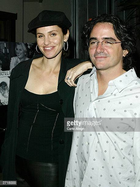 Amy Brennerman and Brad Siberling arrive at a party to celebrate the 100th episode at White Lotus November 8 2003 in Los Angeles Judging Amy is...
