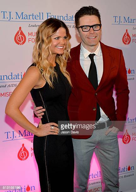 Amy Brown and Bobby Bones attend the TJ Martell Foundation 8th Annual Nashville Honors Gala at the Omni Nashville Hotel on February 29 2016 in...