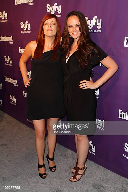 Amy Bruni and Kris Williams arrive at the Entertainment Weekly/Syfy ComicCon Party at Hotel Solamar on July 24 2010 in San Diego California