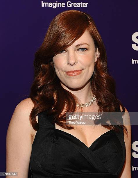 Amy Bruni attends the 2010 Syfy Upfront party at The Museum of Modern Art on March 16 2010 in New York City