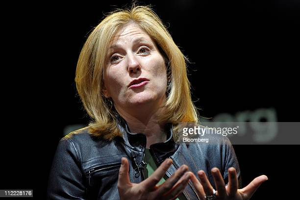 Amy Butte founder and chief executive officer of Tile Financial LLC speaks at the Bloomberg Link Empowered Entrepreneur Summit in New York US on...