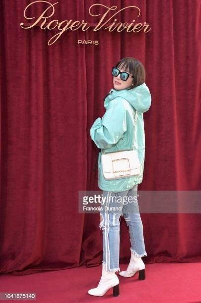 Amy BuyerKey attends the Roger Vivier Presentation Spring/Summer 2019 during Paris Fashion Week on September 27 2018 in Paris France