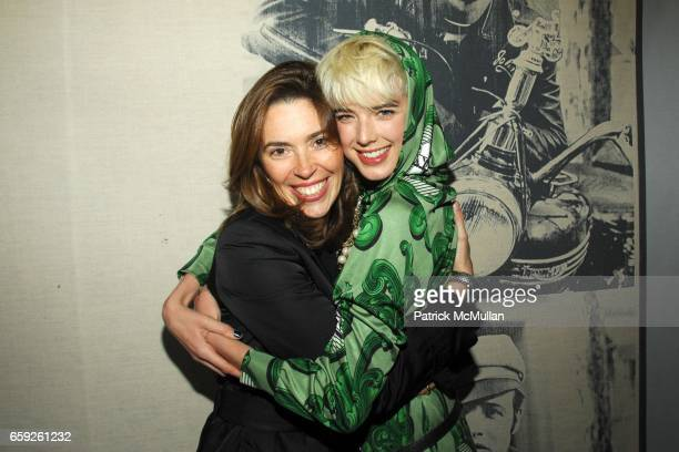 Amy Cappellazzo and Agyness Deyn attend CHRISTIE'S Exclusive Preview Party for ANDY WARHOL's 'DOUBLE MARLON' at Soho Grand Penthouse on April 30 2008...