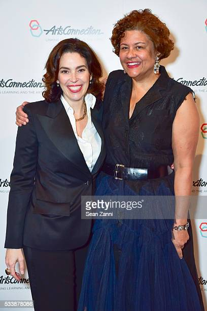 Amy Cappellazzo and Elizabeth Alexander attend ArtsConnection 2016 Benefit Celebration at 583 Park Avenue on May 23 2016 in New York City