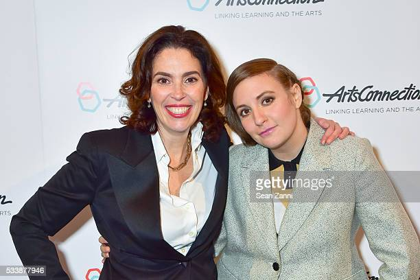 Amy Cappellazzo and Lena Dunham attend ArtsConnection 2016 Benefit Celebration at 583 Park Avenue on May 23 2016 in New York City