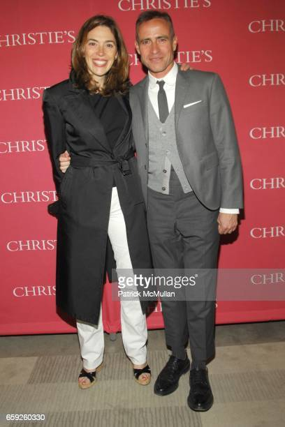 Amy Cappellazzo and Thom Browne attend CHRISTIE'S Exclusive Preview Party for ANDY WARHOL's 'DOUBLE MARLON' at Soho Grand Penthouse on April 30 2008...