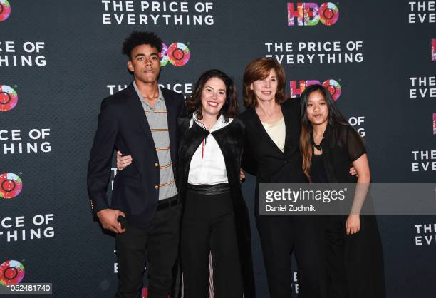 Amy Cappellazzo attends with her family 'The Price of Everything' New York Premiere at Museum of Modern Art on October 18 2018 in New York City