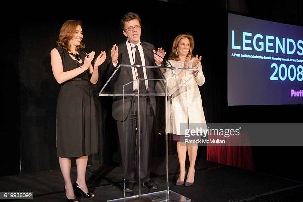 Amy Cappellazzo Kurt Andersen and Marjorie Kuhn attend LEGENDS 2008 A PRATT INSTITUTE Scholarship Benefit Honoring Icons of Art and Design at Pier 61...