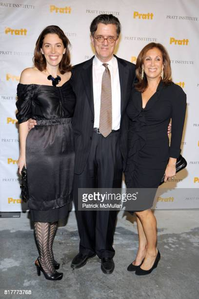 Amy Cappellazzo Kurt Andersen and Marjorie Kuhn attend LEGENDS 2010 A Pratt Institute Scholarship Benefit at 7 World Trade on October 20 2010 in New...