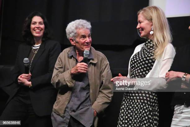 Amy Cappellazzo Larry Poons and Jennifer Stockman speak during a screening and QA for the Opening Night Film 'The Price of Everything' during the...