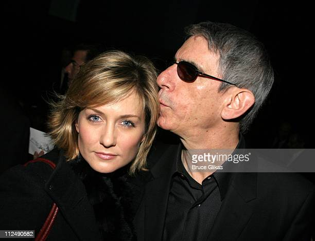 Amy Carlson and Richard Belzer during Jerry Orbach Memorial Celebration at The Richard Rogers Theater in New York City New York United States
