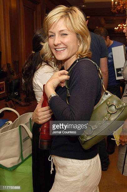 Amy Carlson at the Fyre gift station during Lucky/Cargo Club Day 1 at Ritz Carlton in New York City New York United States
