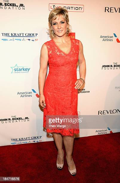Amy Carlson attends the Elton John AIDS Foundation's 12th Annual An Enduring Vision Benefit at Cipriani Wall Street on October 15 2013 in New York...