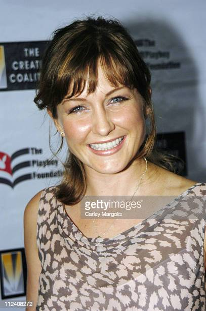 Amy Carlson during 25th Anniversary Hugh M Hefner First Amendment Awards to Benefit The Creative Coalition at Chelsea Piers Pier 60 in New York City...