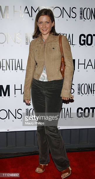 Amy Carlson during LA Confidential Emmy / Fall Fashion Cover Party at Shelter Supper Club in West Hollywood California United States
