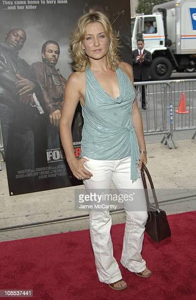 Amy Carlson during Four Brothers New York City Premiere Inside Arrivals at Clearview's Chelsea West Cinemas in New York City New York United States
