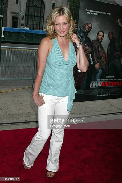 Amy Carlson during Four Brothers New York City Premiere Outside Arrivals at Clearview Chelsea West in New York City New York United States