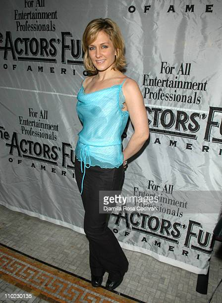 Amy Carlson during The Actors' Fund host 'Together On Broadway' After Party at Bond 45 Restaurant in New York City New York United States