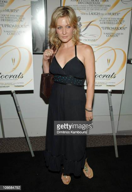 Amy Carlson during 'The Aristocrats' New York City Premiere Arrivals at The Director's Guild Theater in New York City New York United States