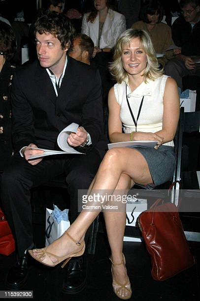 Amy Carlson Guest during MercedesBenz Fashion Week Spring Collections 2003 Tommy Hilfiger Front Row at Bryant Park in New York City New York United...